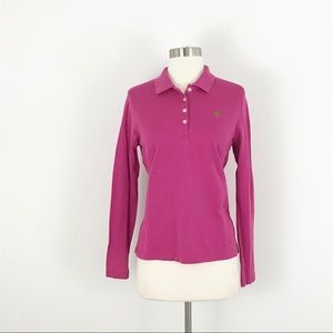 Lilly Pulitzer Pink long sleeve polo top medium